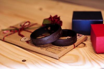 Персональные кожаные браслеты с гравировкой надписи, для пар, Лида, Беларусь